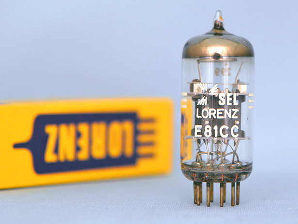 E81CC Telefunken  テレフンケン 真空管 電圧増幅管 ◇マークあり LORENZ商社扱い 元箱 やや使用