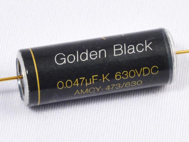 """Golden Black"" AMCY 0.047μF/630V 高音質 アルミ箔オイルコンデンサー"