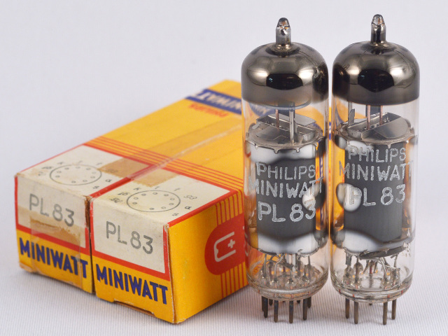 PL83 Philips Miniwatt/ペア 元箱 新品 マッチドペア