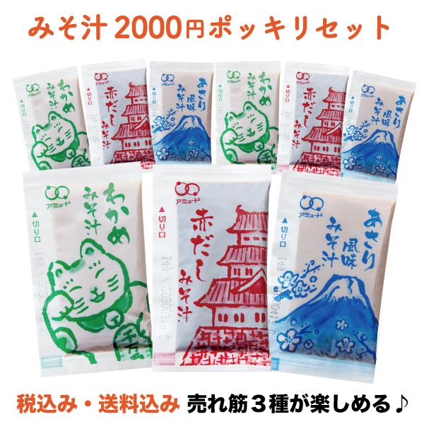 2,000円ポッキリセット(みそ汁セレクション) 生みそ みそ汁
