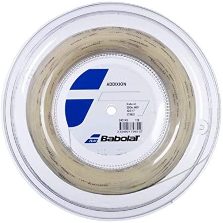 バボラ(Babolat) アディクション ADDIXION (旧 Addiction) (125/130) 200Mロール 硬式テニス マルチフィラメントガット 243143-128 ナチュラル(20y8m)