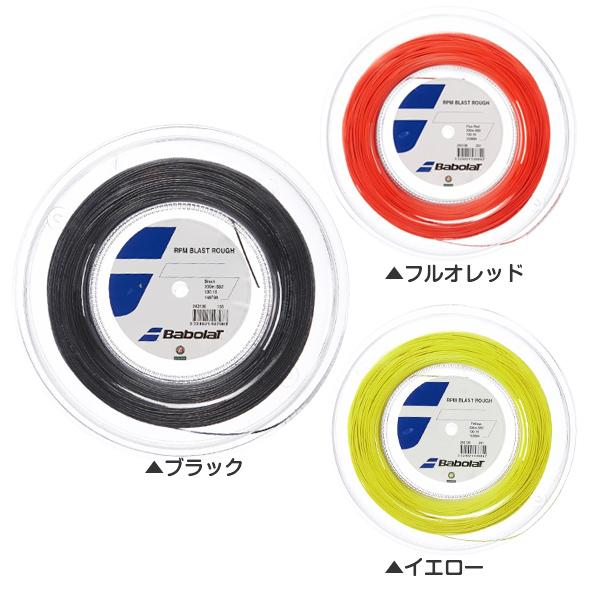 バボラ(Babolat) RPMブラスト ラフ(125mm/130mm/135mm) 200Mロール ポリエステル243136(17y2m)硬式テニスガット
