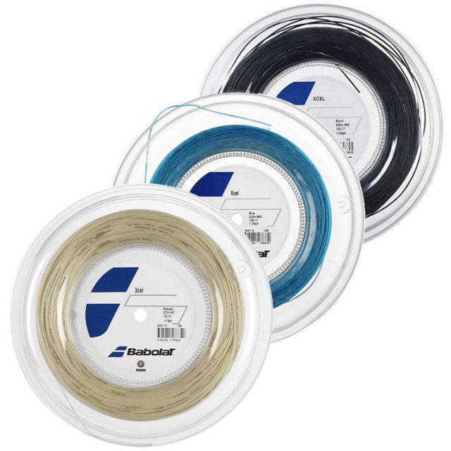 バボラ エクセル(125/130/135)200Mロール 硬式テニス マルチフィラメント ガット (Babolat Xcel) 243110