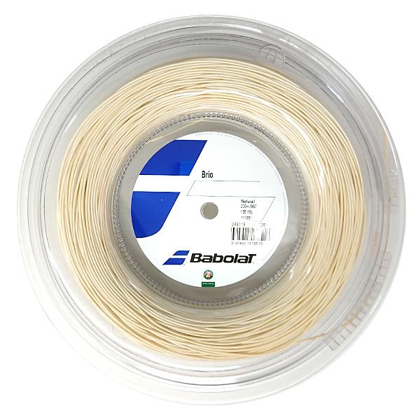 バボラ(Babolat) ブリオ(1.25mm/1.30mm/1.35mm)200MロールBA243118硬式テニス マルチフィラメントガットBrio