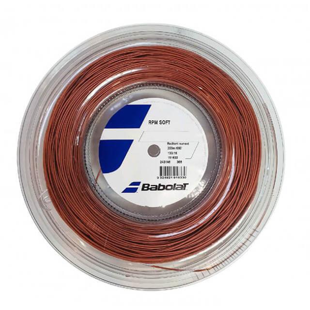 バボラ(Babolat) RPM SOFT RPMソフト (125/130) 200Mロール 硬式テニス モノフィラメント 243146-368 Rサンセット(21y10m)
