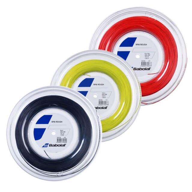 バボラ(Babolat) RPMラフ (旧 RPMブラストラフ) RPM ROUGH (125/130/135) 200 Mロール 硬式テニス ポリエステルガット (20y7m)