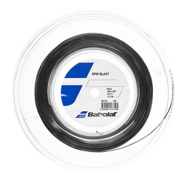 [使いやすい100M!][激スピン]バボラ(Babolat) RPMブラスト 1.25mm ※100Mロール※ 硬式テニス ポリエステルガット 242101-105 ブラック(20y7m)