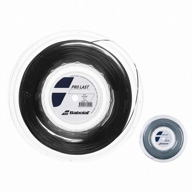 バボラ(Babolat) プロラスト PRO LAST 1.25mm/1.30mm 200Mロール ポリエステル モノフィラメントガット 243142-ブラック/グレー(20y7m)