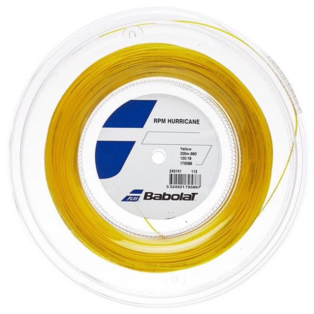 バボラ(Babolat) 2020 RPM ハリケーン (120/125/130/135) 200Mロール 硬式テニス ポリエステル ガット 243141-113 イエロー(20y7m)