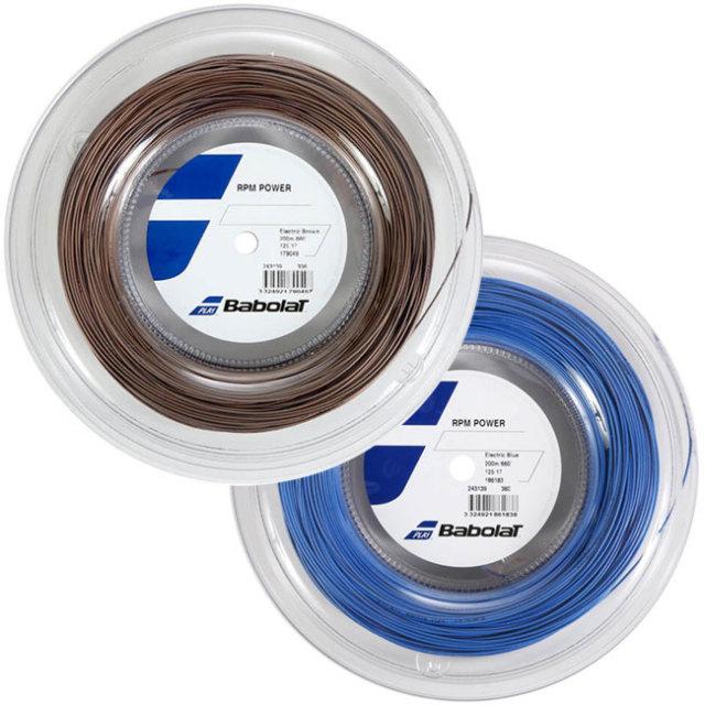 [ドミニク・ティエム使用]バボラ(Babolat) RPMパワー POWER (125/130) 200Mロール 硬式テニスガット ポリエステル ガット 243139-336Eブラウン(19y12m)