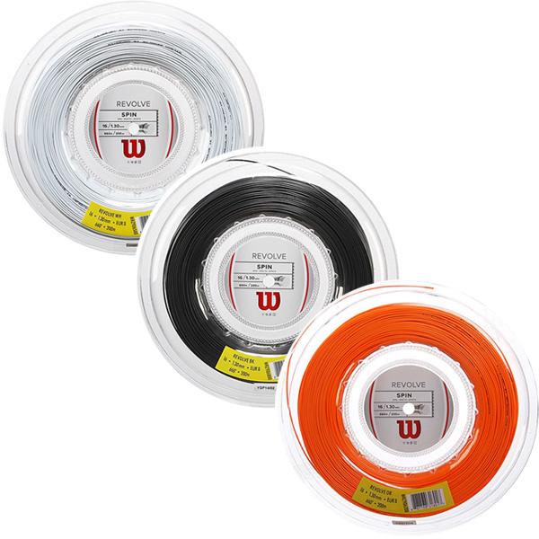 【国内未発売モデル】ウィルソン リボルブ(1.25mm/1.30mm)200Mロール 硬式テニスガット ポリエステル(Wilson Revolve 16(1.30mm)/17(1.25mm)String)(15y10m)