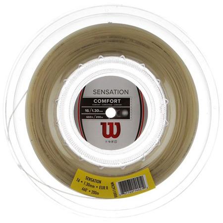 ウィルソン センセーション 17(1.25mm)16(1.30mm)15(1.35mm) 200Mロール 硬式テニスガット マルチフィラメントガット (Wilson Sensation)