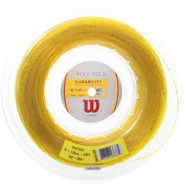 ウィルソン(Wilson) ポリゴールド 16G(1.30mm) 200Mロール 硬式テニス ポリエステルガット WRZ904900(19y4m)