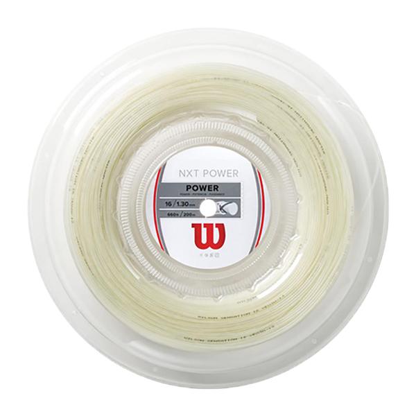 ウィルソン(Wilson) NXTパワー16(1.30mm) 200Mロール 硬式テニス マルチフィラメントガット NXT Power (ナチュラルカラー)[]