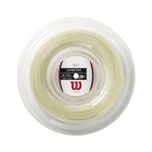 ウィルソン(Wilson) NXT16/17 (1.30mm/1.24mm) 200Mロール 硬式テニスガット マルチフィラメントガット ナチュラルカラー