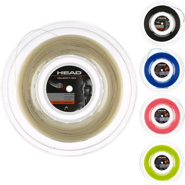 ヘッド ベロシティ MLT 200Mロール(1.25mm/1.30mm)硬式テニスガット マルチフィラメントガット(Head Velocity MLT String)(15y12m)