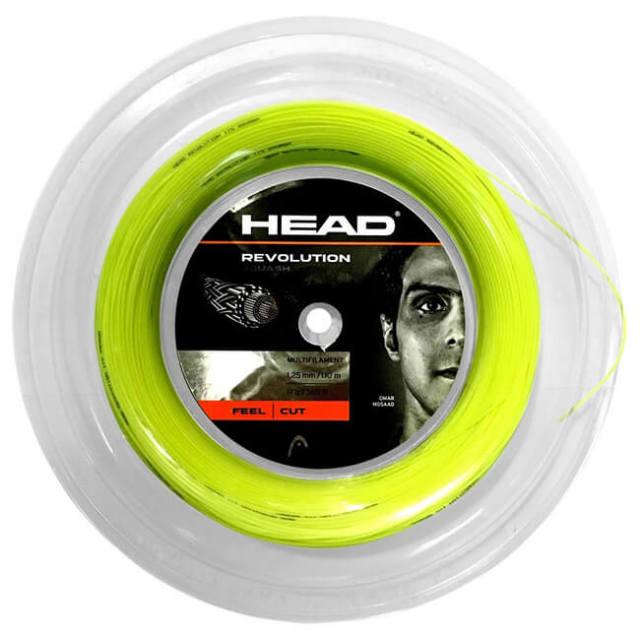 [スカッシュ用]ヘッド(HEAD) REVOLUTION レボリューション スカッシュ (1.25mm) 110Mロール スカッシュ マルチフィラメントガット 281186(21y4m)