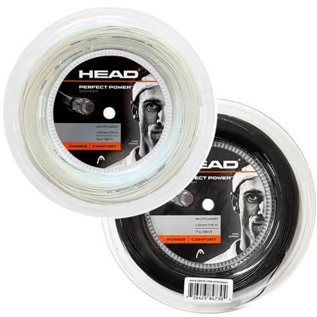 [スカッシュ用]ヘッド(HEAD) PERFECT POWER パーフェクトパワー スカッシュ (1.20mm/1.25mm/1.30mm) 110Mロール マルチフィラメントガット 281115(21y4m)