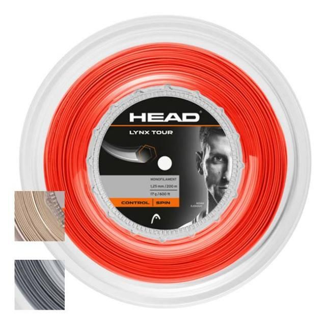 ヘッド(HEAD) 2020 LYNX TOUR (リンクスツアー) (17/1.25mm 16/1.30mm) 200Mロール 硬式テニスストリング ポリエステルガット 281799(20y7m)