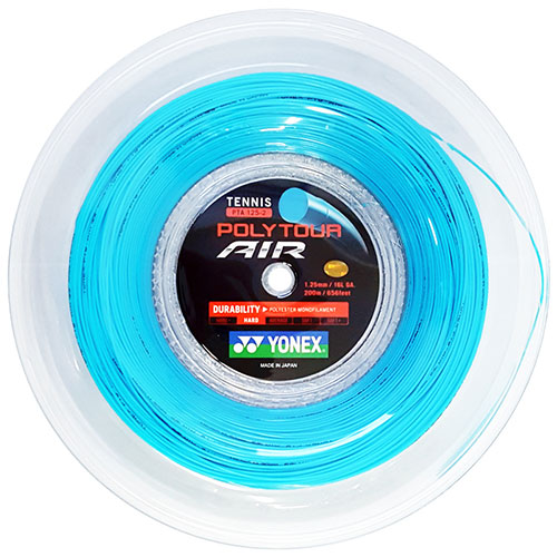 ヨネックス ポリツアー エア 200Mロール(1.25mm)PTA125-2硬式テニスガット ポリエステルガット(YONEX POLY TOUR AIR 200M Reel)(16y11m)
