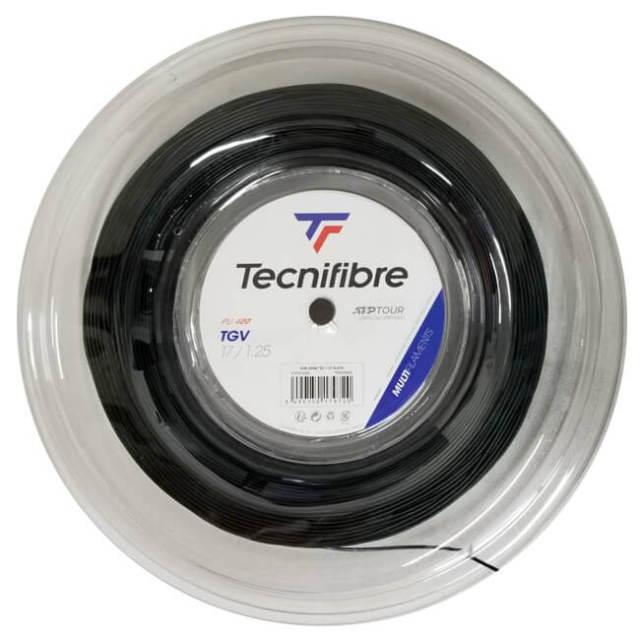 テクニファイバー(Tecnifibre) TGV Black (1.25mm/1.30mm/1.35mm/1.40mm)200Mロール 硬式テニス マルチフィラメントガット (20y5m)