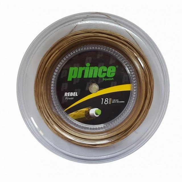 [スカッシュ用]プリンス(Prince) REBEL POWER レベルパワー スカッシュ 18(1.20mm) 100Mロール スカッシュ マルチフィラメントガット 7Q345(21y4m)
