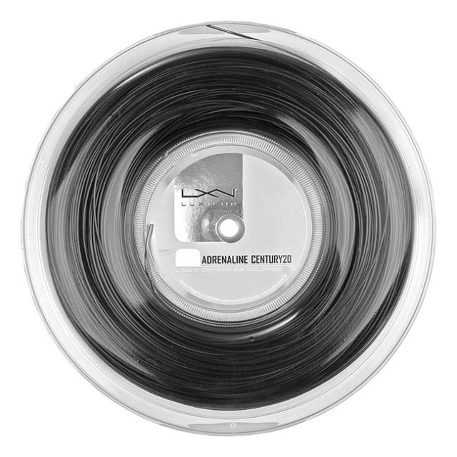 ルキシロン(Luxilon) アドレナリン センチュリー20 (1.25/1.30mm) 200Mロール 硬式テニス ポリエステル ガット WR8303001125/WR8303201130-ブラック(20y4m)