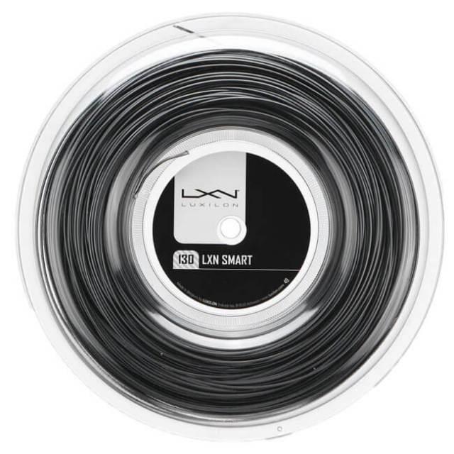 ルキシロン(Luxilon) スマート (1.25/1.30mm) 200Mロール 硬式テニス ポリエステル ガット WR8300801125/WR8301001130-ブラック(19y5m)