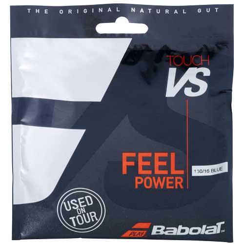 [単張パッケージ品]バボラ(Babolat) TOUCH VS タッチ ブイエス (125/130/135) 硬式テニス ナチュラルガット 201031-136 ブルー(20y10m)