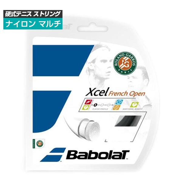 [単張パッケージ品]バボラ(Babolat) エクセル フレンチオープン ブラック Xcel FrenchOpen(125/130)硬式テニス マルチフィラメント ガット241111(1812)