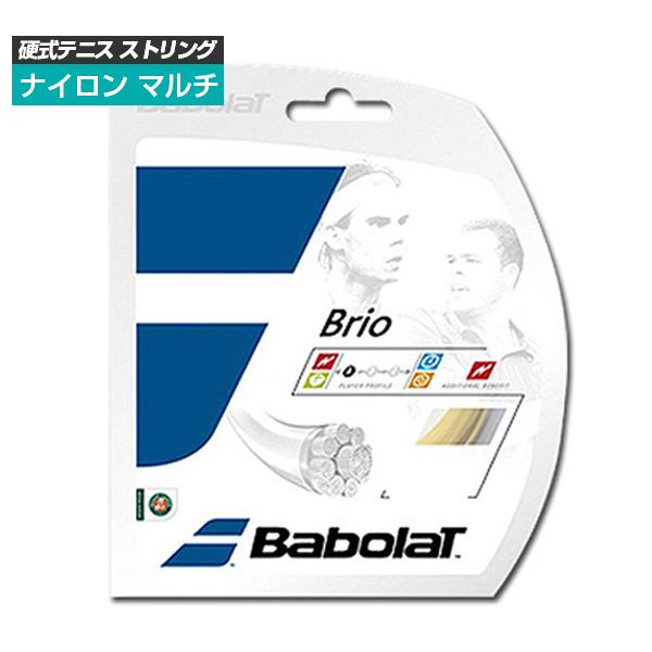 [単張パッケージ品]バボラ(Babolat) ブリオ Brio(125/130/135)硬式テニス マルチフィラメントガット241118(1812)