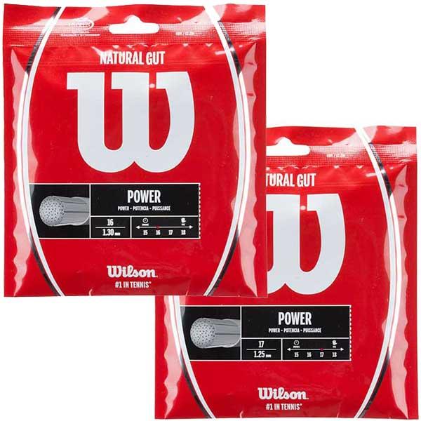 【パッケージ品】ウィルソン(Wilson) 2017 ナチュラルガット1.25mm(WRZ999900) 1.30mm(WRZ999800)