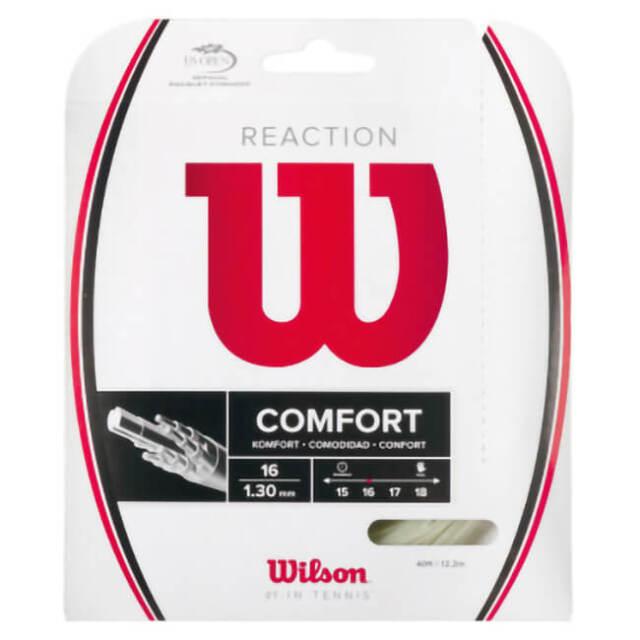 在庫処分特価】[単張パッケージ品]ウィルソン(Wilson) REACTION 16 りリアクション16(1.30mm) 硬式テニス モノフィラメントガット WRZ948200-ナチュラル(21y4m)