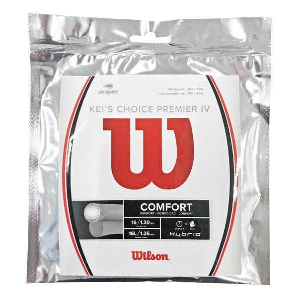 [単張パッケージ品]ウィルソン(Wilson) KEI'S CHOICE PREMIER IV ケイズ チョイス プレミア IV 硬式テニス ハイブリッドガット WR830060116(21y2m)