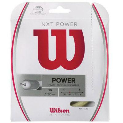 【パッケージ品】ウィルソン(Wilson) NXTパワー 16/17/18 (1.30/1.26/1.21mm)(WRZ941600/941700/941800) 硬式テニス マルチフィラメントガット(17y9m)