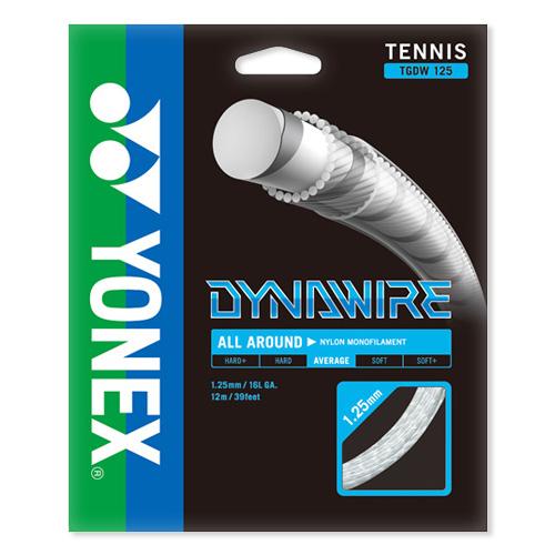 [単張パッケージ品]ヨネックス(YONEX) ダイナワイヤー(1.25mm/1.30mm)TGDW125/TGDW130 硬式テニスガット ナイロン モノフィラメントガット