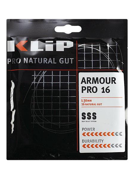 【パッケージ品】クリップ アーマープロ (1.25mm/1.30mm) 硬式テニスガット 最高級ナチュラルガット(KLIP Armour Pro Natural Gut String)
