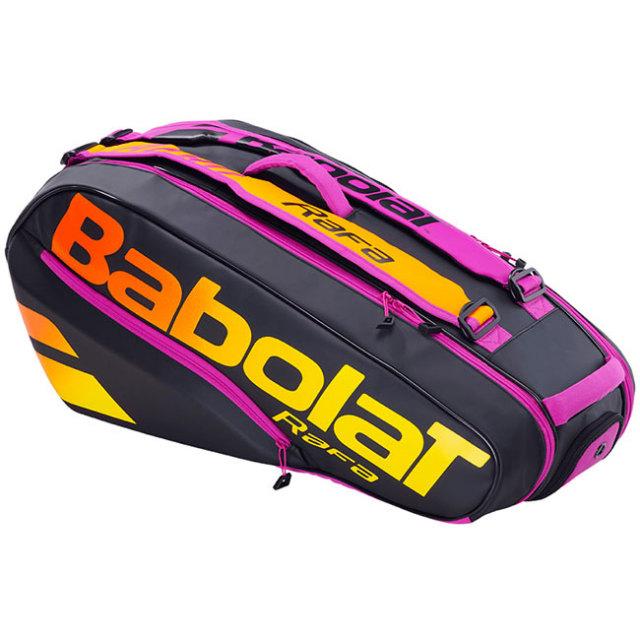「ラファエル・ナダル」「6本収納」バボラ(Babolat) 2021 PURE AERO ピュアアエロ RH6 RAFA ラケットバッグ テニスバッグ 751216-363 BK×OG×PP(21y10m)