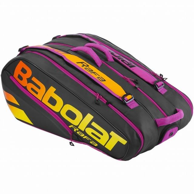 [ラファエル・ナダル][12本収納]バボラ(Babolat) 2021 ピュアアエロ ラファ RH12 ラケットバッグ テニスバッグ 751215-363 ブラック×オレンジ×パープル(21y4m)