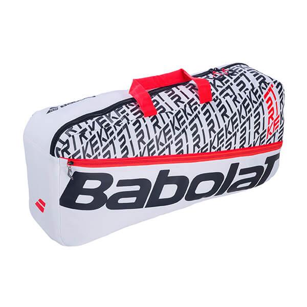 [ラケット収納可]バボラ(Babolat) 2019 ピュアストライク ダッフルバッグ M ラケットバッグ 758002-149ホワイト×レッド(19y8m)