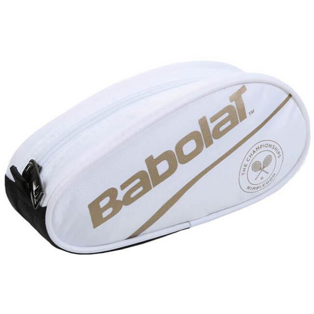 バボラ(Babolat) 2019 ラケットバッグ型 ペンシルケース ウィンブルドン 742024-316 ホワイト×ゴールド(19y4m)