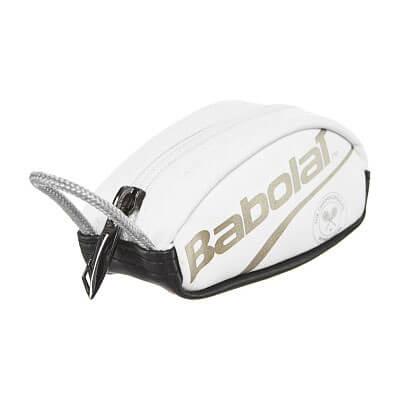 [プレゼントに最適]バボラ(Babolat) 2019 ラケットバッグ型 キーリングポーチ ウィンブルドン 742022-316 ホワイト×ゴールド(19y4m)