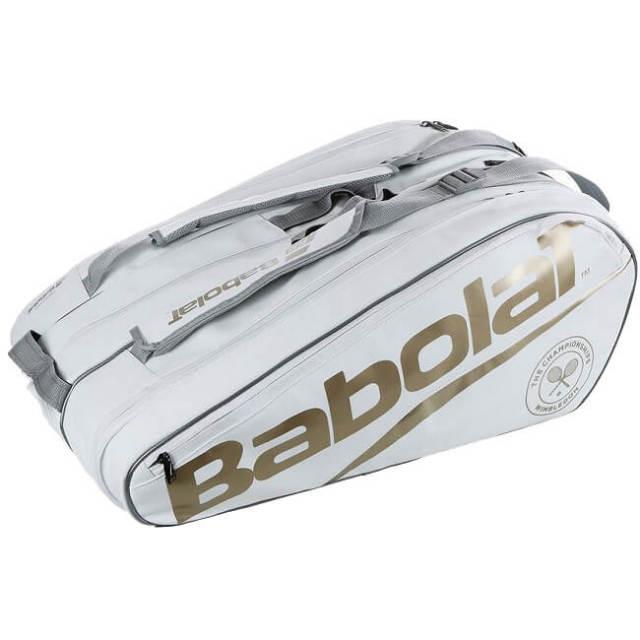 [12本収納]バボラ(Babolat) 2019 ピュアウィンブルドン RH12 ラケットバッグ ホワイトxゴールド 751195-316(19y4m)