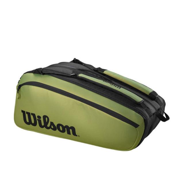 「15本収納」ウィルソン(Wilson) 2021 スーパーツアー 15PK BLADE ラケットバッグ テニスバッグ WR8016701001-グリーン×ブラック(21y10m)