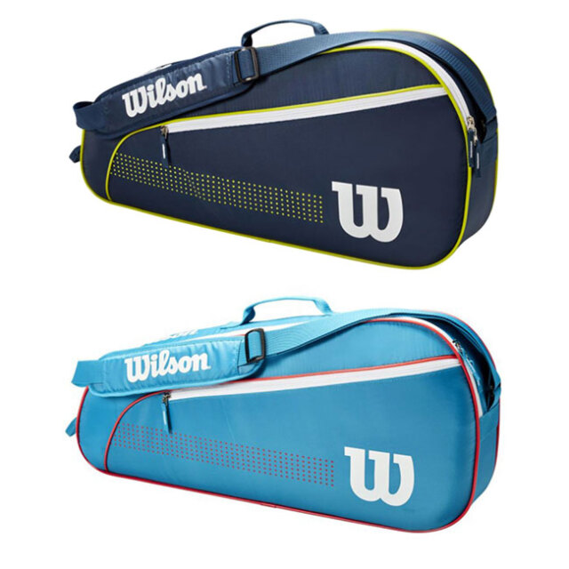 [ジュニア用ラケット3本収納]ウィルソン(Wilson) 2021 ジュニア 3PK ラケットバッグ テニスバッグ WR8012801001/WR8012802001(21y5m)
