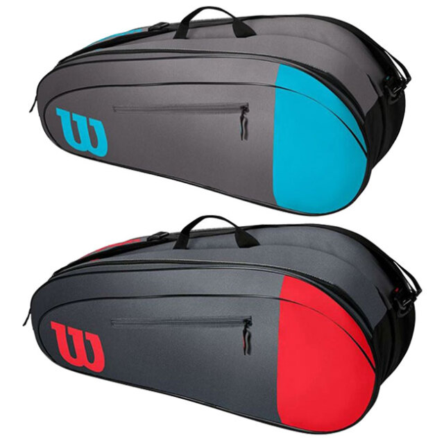 [6本収納]ウィルソン(Wilson) 2021 TEAM チーム 6PK ラケットバッグ テニスバッグ WR8009802001/WR8009803001(21y5m)