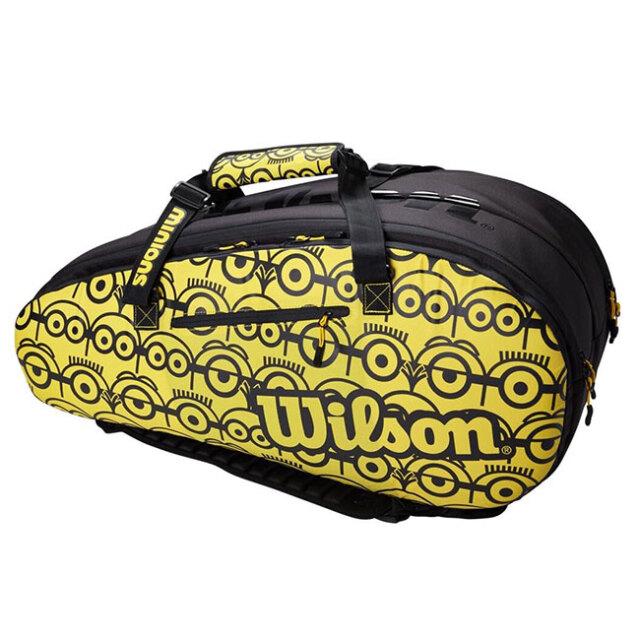 [12本収納]ウィルソン(Wilson) 2021 Wilson×Minions TOUR ツアー 12 ミニオンズ ラケットバッグ テニスバッグ WR8013701001-ブラック×イエロー(21y4m)