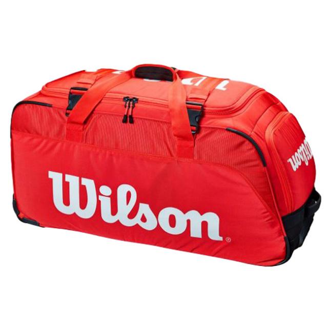 [ラケット収納可]ウィルソン(Wilson) 2021 SUPER TOUR スーパーツアー トラベルバッグ トローリーバッグ WR8012201001-レッド(21y3m)