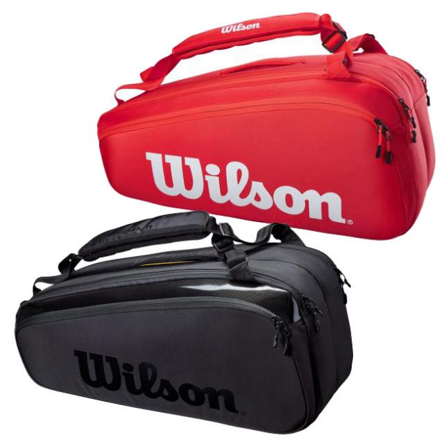 [9本収納]ウィルソン(Wilson) 2021 SUPER TOUR 9PK スーパーツアー9PK ラケットバッグ テニスバッグ WR8010501001/WR8010601001(21y3m)