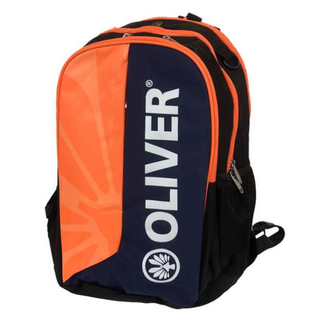 [バドミントン・スカッシュ]OLIVER(オリバー) スポーツバッグ B271-07 バックパック 小物用巾着付き OF15B271-07 オレンジ×ブラック(21y3m)